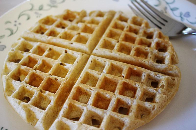 Oatmeal Cinnamon Waffles