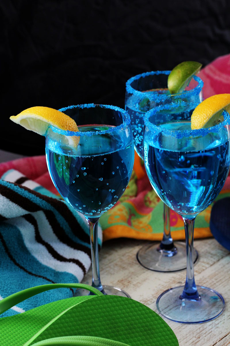 Sparkling Blue Hawaiian Mocktail