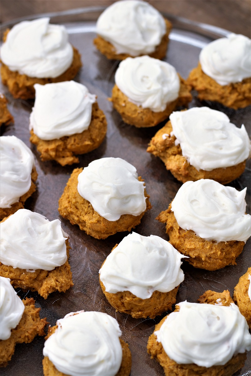 Easy Frosted Pumpkin Cookies