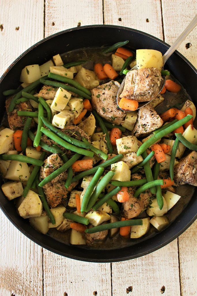 Chicken and Vegetables Skillet Meal