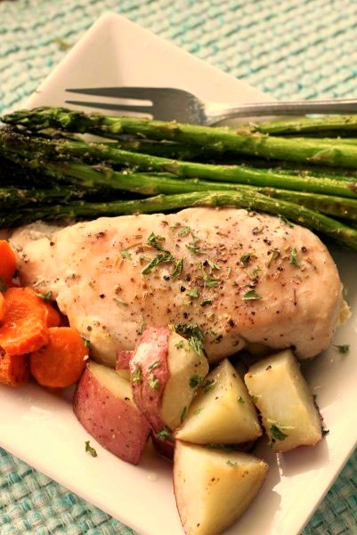 Sheet Pan Garlic Rosemary Chicken and Veggies