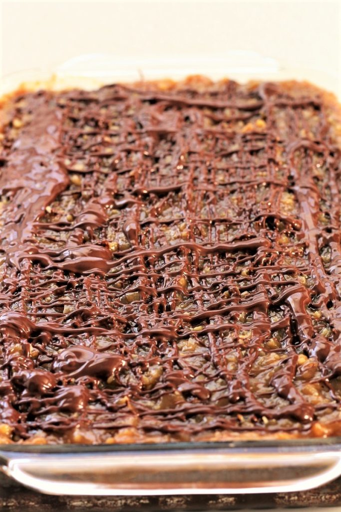 Caramel German Chocolate Brownies