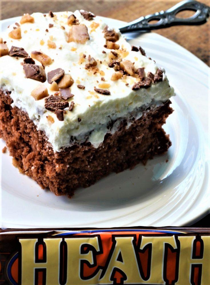 Skor Candy Bar Cake