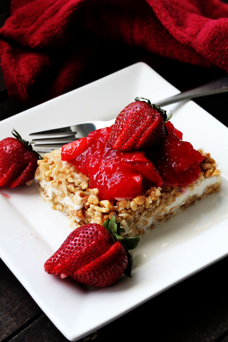 Strawberry Krispies Dessert