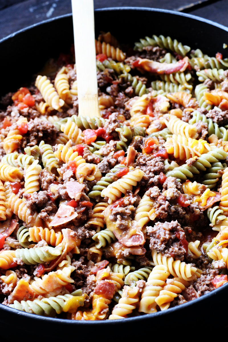 One Pot Barbecue Beef Pasta