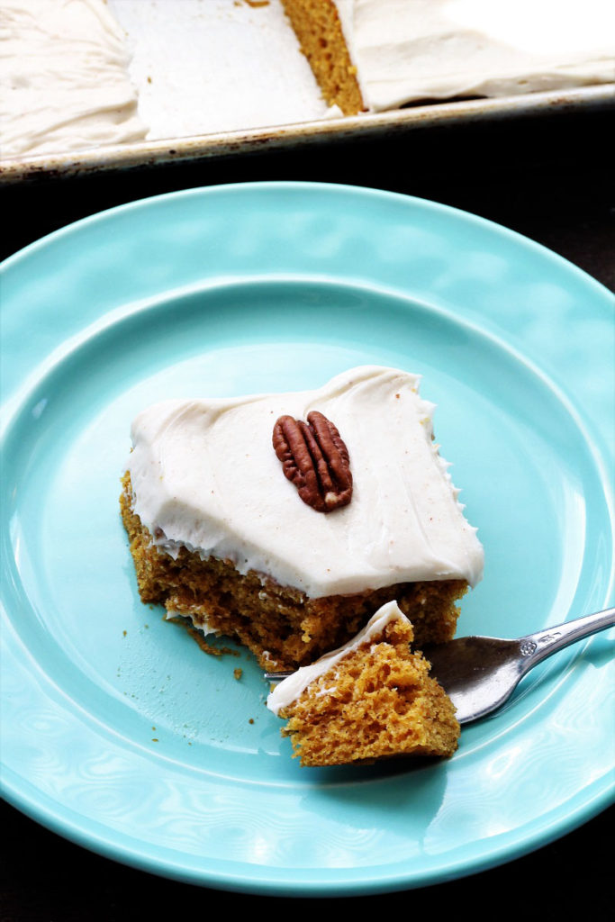 Pumpkin Brownies With Brown Butter Cream Cheese Frosting