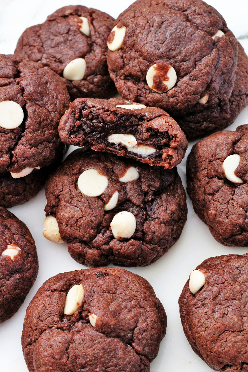 Brownie White Chip Cookies