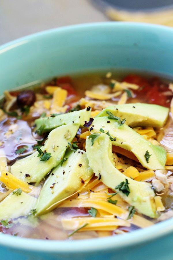 Chicken Avocado Tortilla Soup
