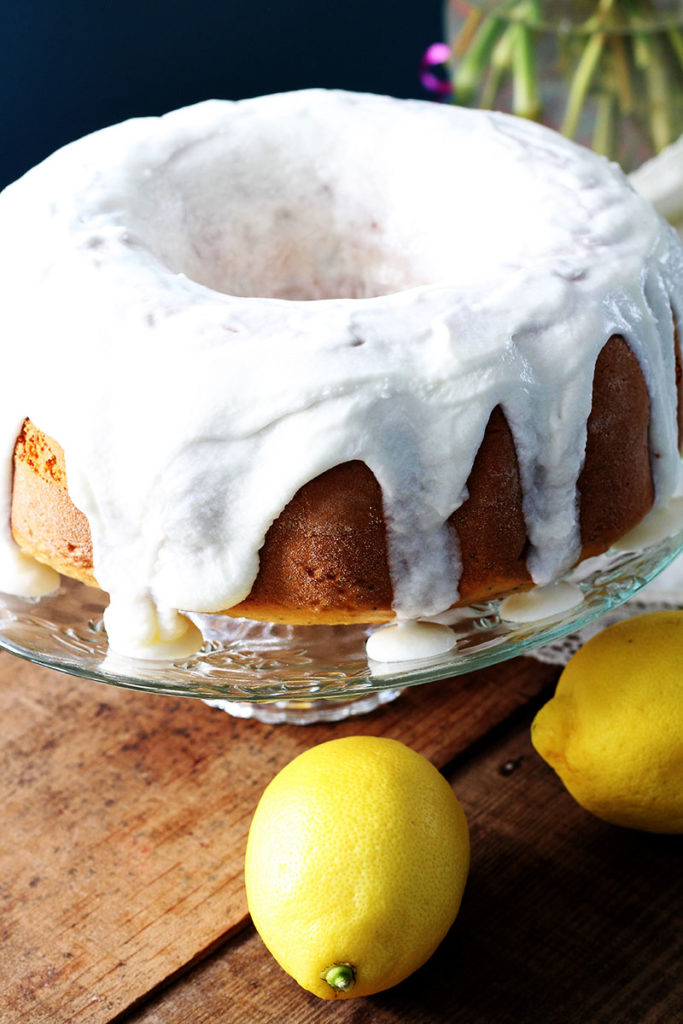 Lemon Poppy Seed Cake With Cake Mix And Sour Cream