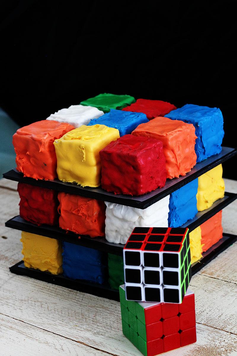 Easy Rubiks Cube Cake