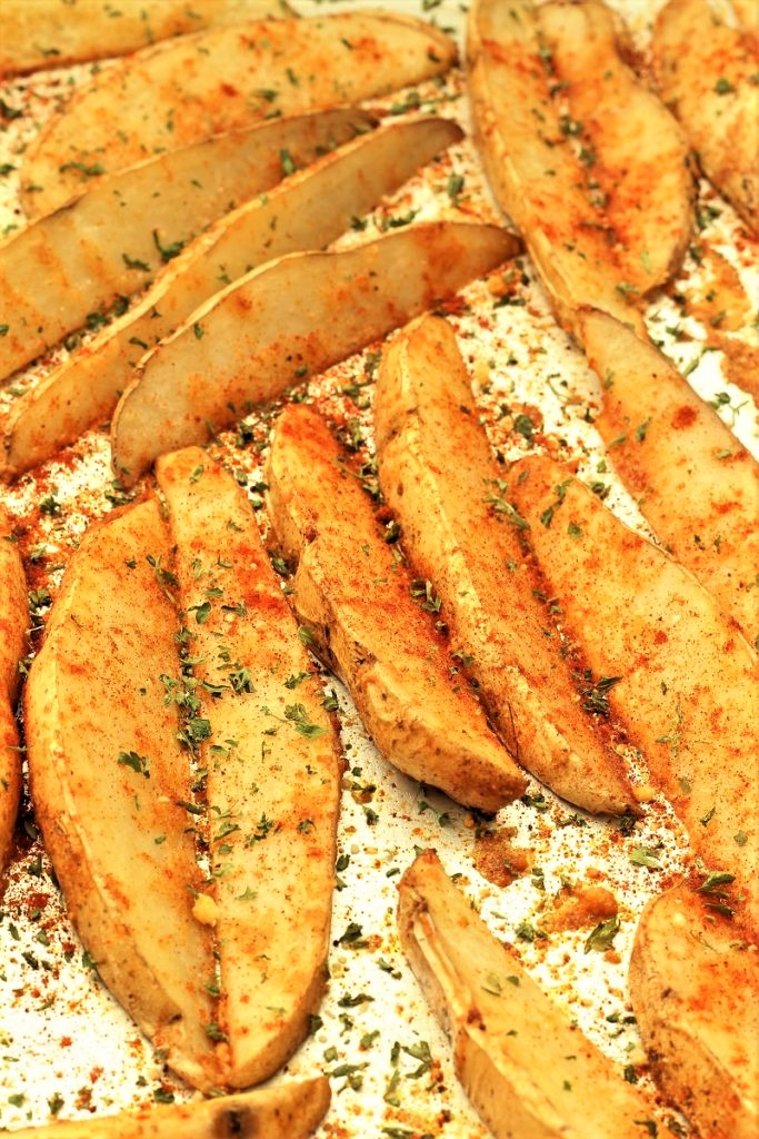 Garlic Baked Potato Wedges