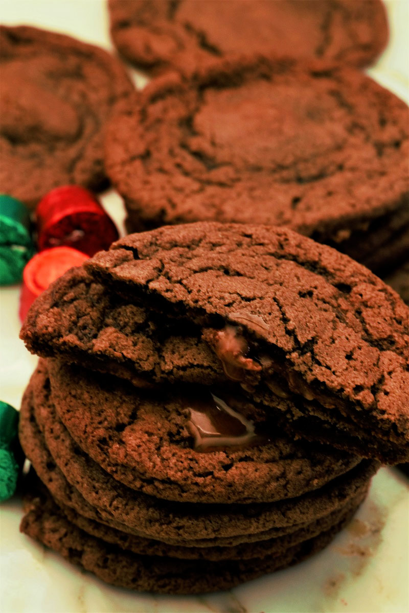 Chocolate Rolo Cookies