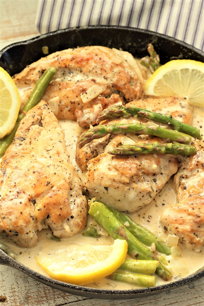 Creamy Asparagus With Lemon Chicken