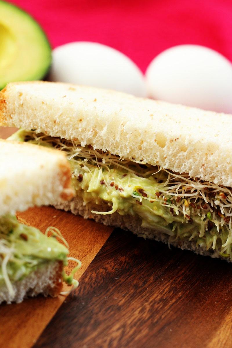Egg Salad Sandwich With Avocado
