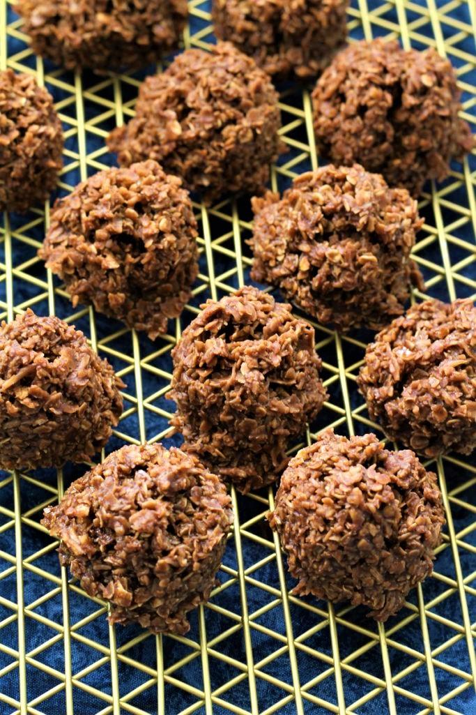 Healthier No Bake Chocolate Cookies