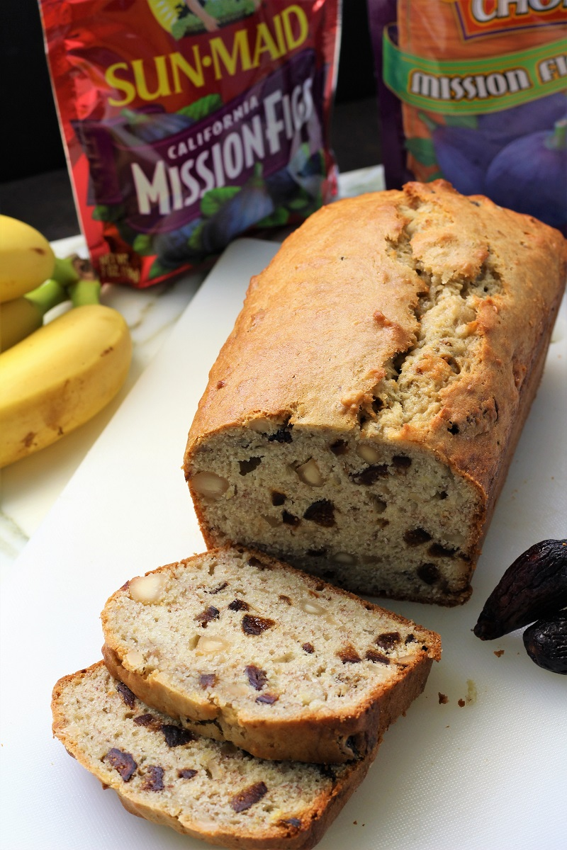 California Fig Banana Bread