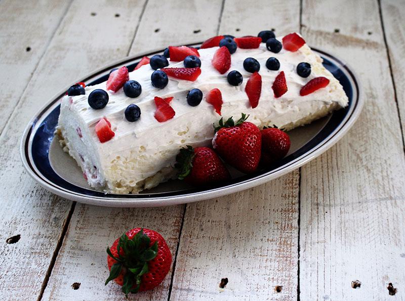 Triple Berry Angel Food Cake Roll