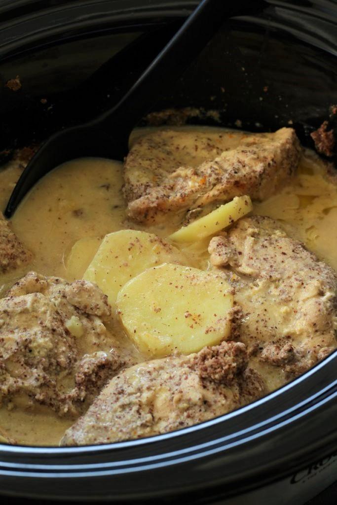 Crock Pot Orange Chicken and Sweet Potatoes