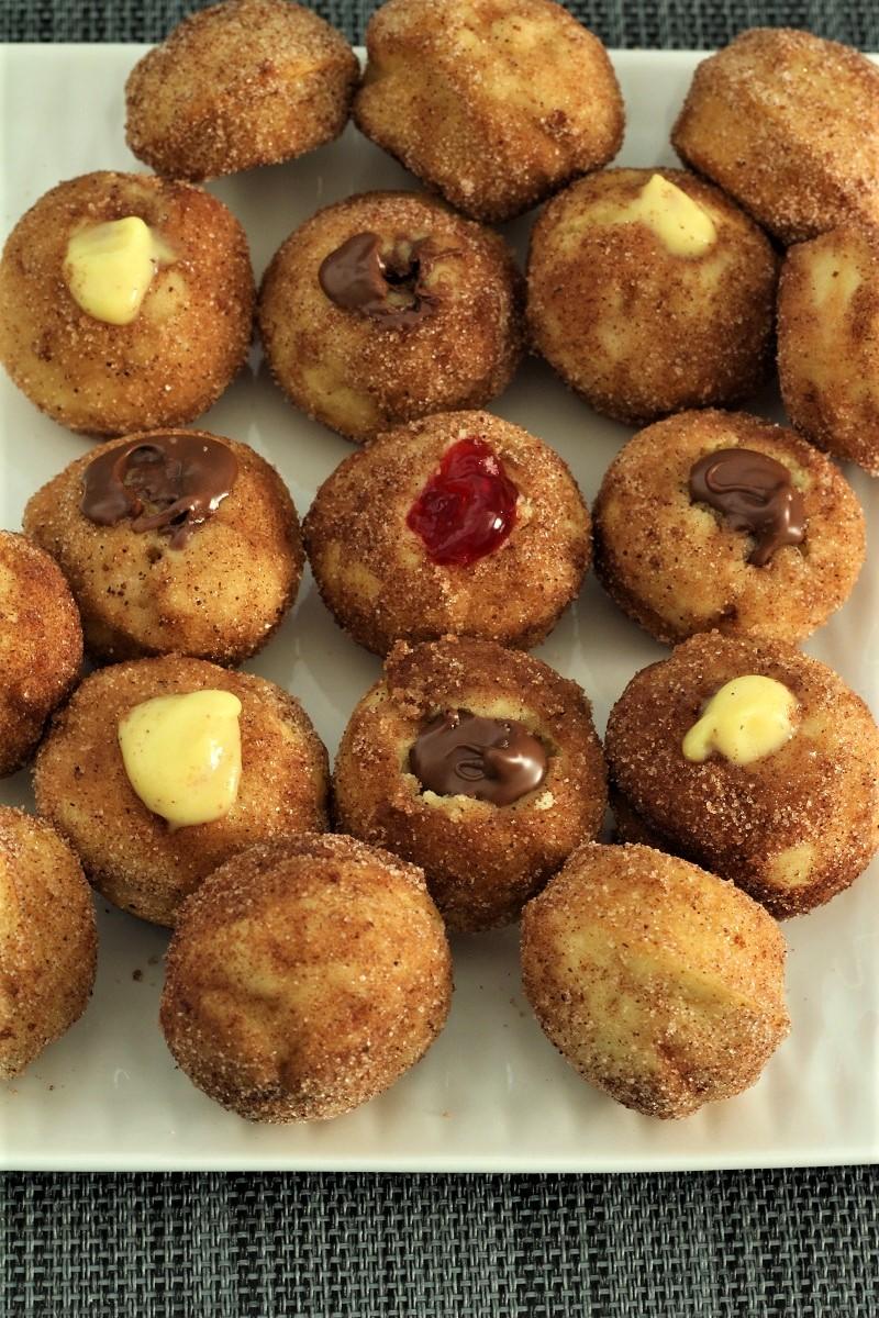 Nutella Churro Donut Bites