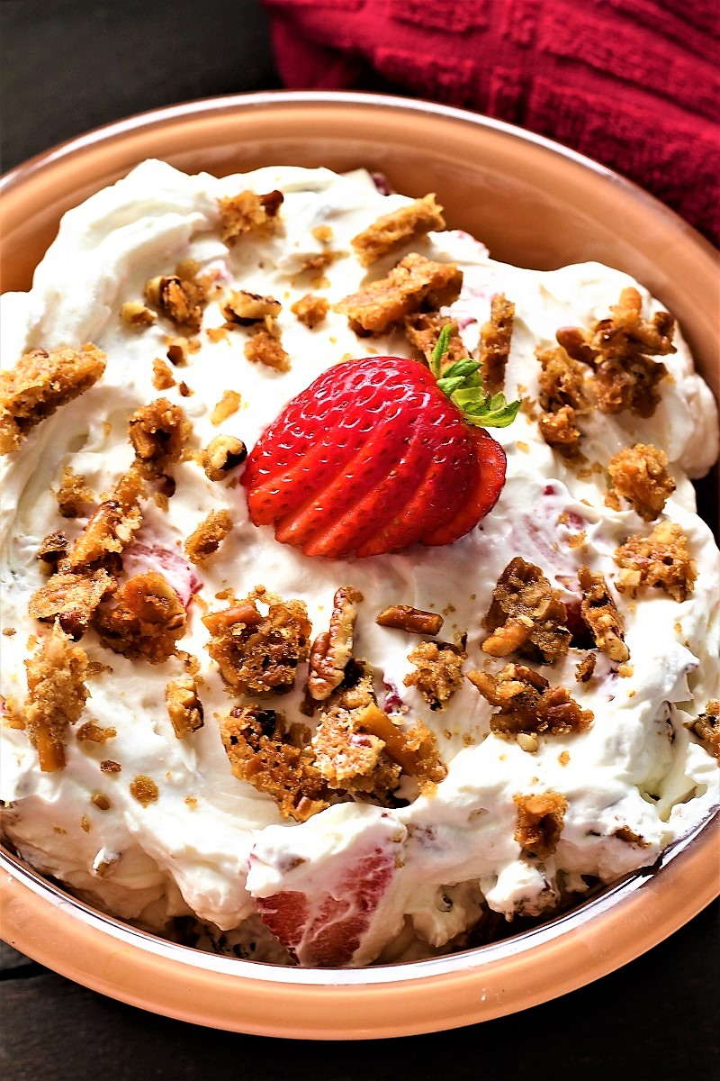 Strawberry Pecan Pretzel Salad