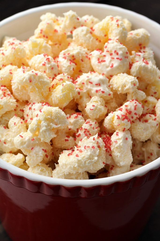 White Chocolate Corn Pops