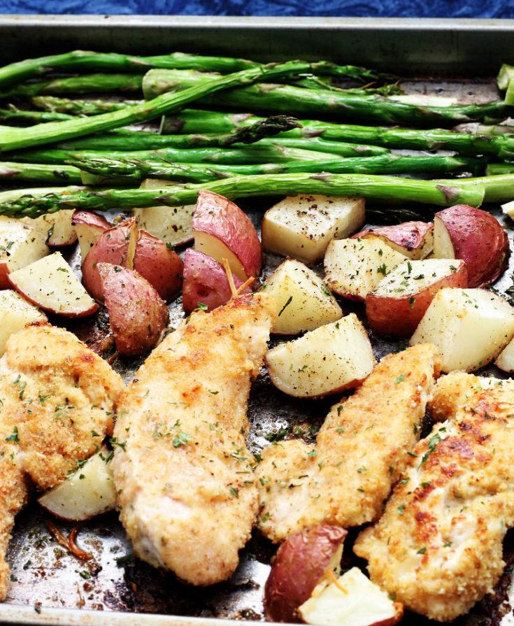Sheet Pan Roasted Parmesan Chicken and Veggies