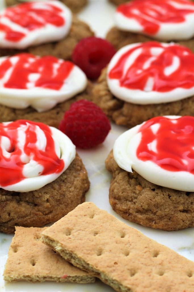 Copycat Crumbl Raspberry Cheesecake Cookies