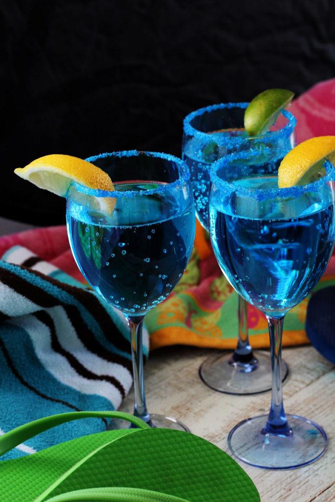 Sparkling Blue Hawaiian Mocktail