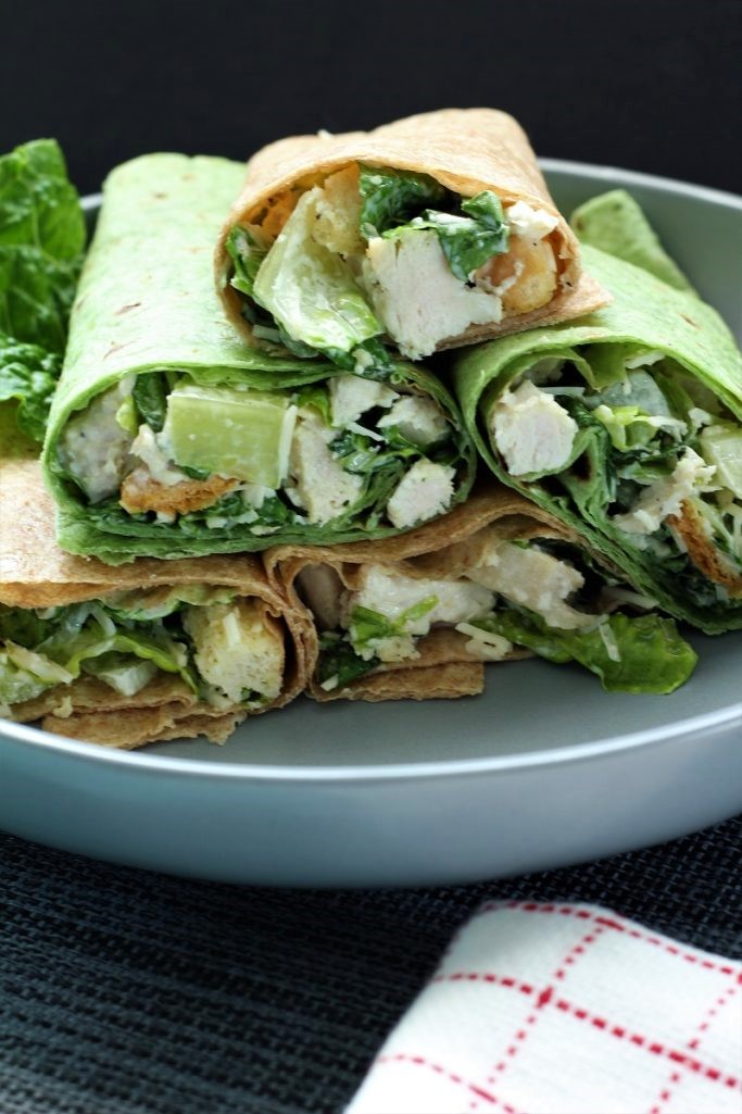 Chicken Caesar Wraps