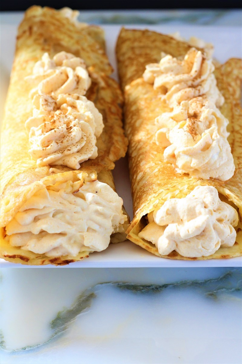 Pumpkin Crepes with Pumpkin Filling