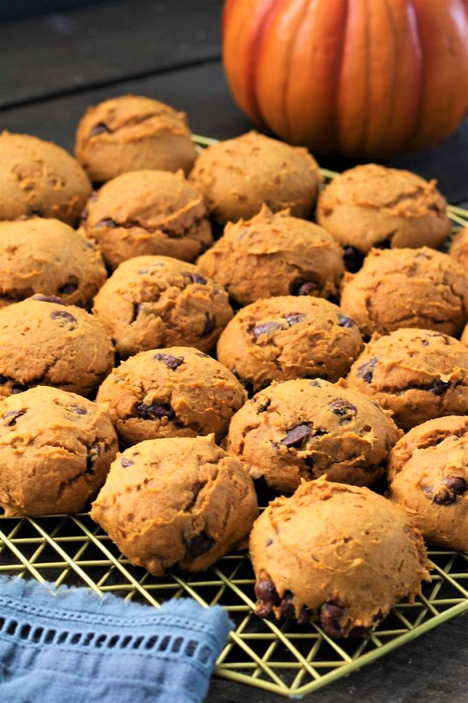 Three Ingredient Pumpkin Chocolate Chip Cookies