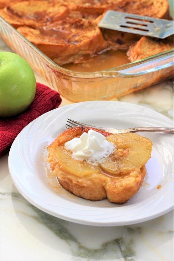 Baked Caramel Apple French Toast