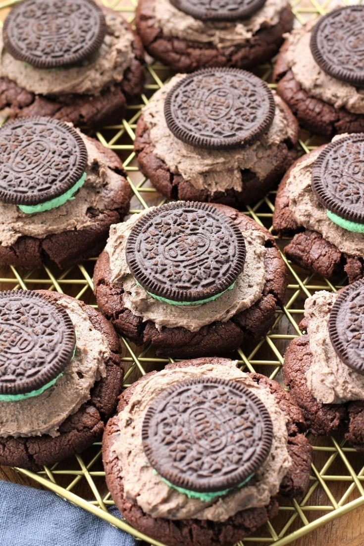 Mint Oreo Brownie Cookies
