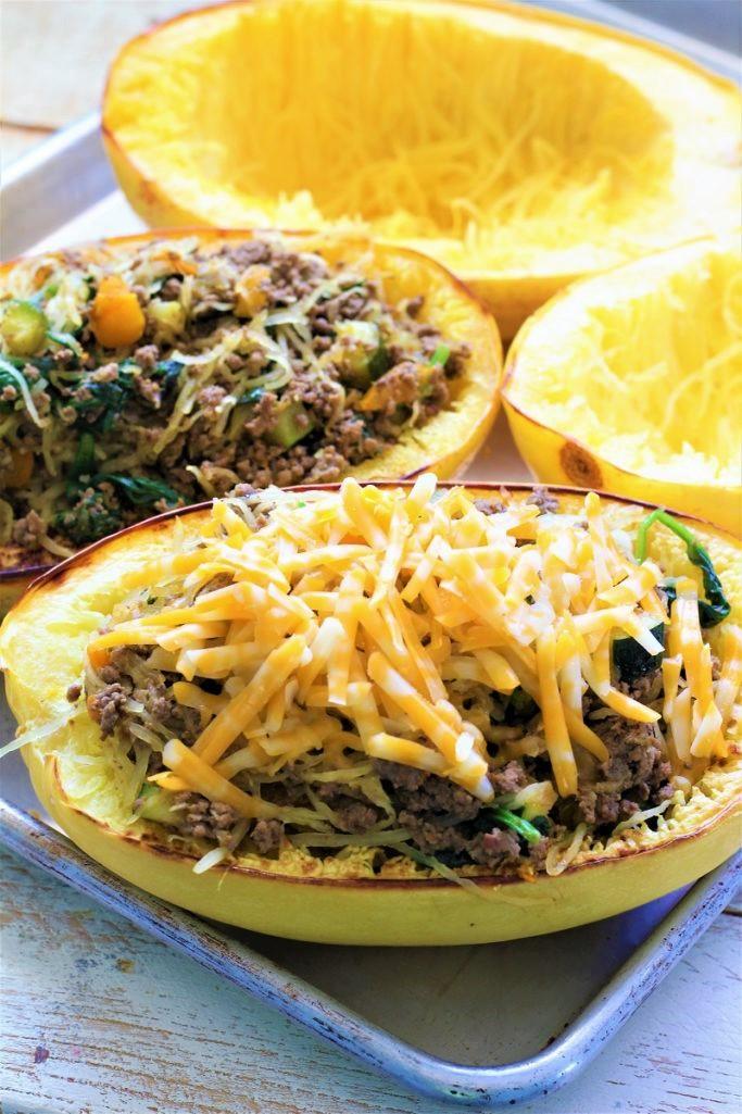Taco Spaghetti Squash Bowls