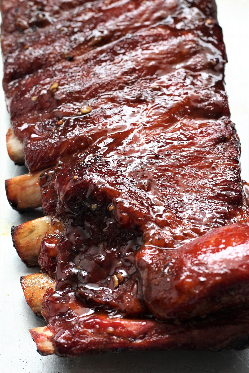 Wood Pellet Pork BBQ Ribs