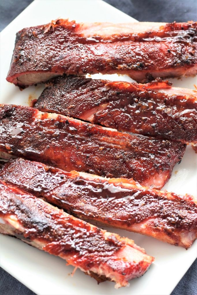 Wood Pellet Pork BBQ Ribs