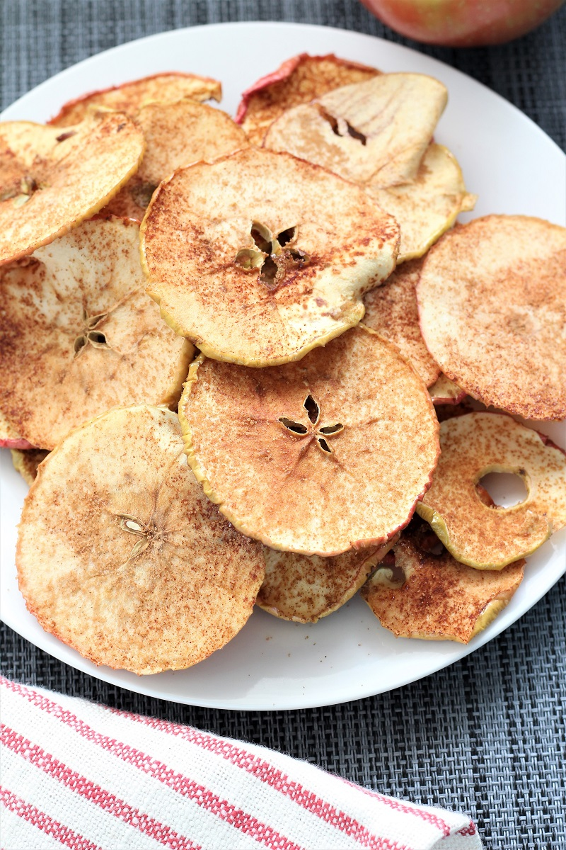 Cinnamon Brown Sugar Apple Chips