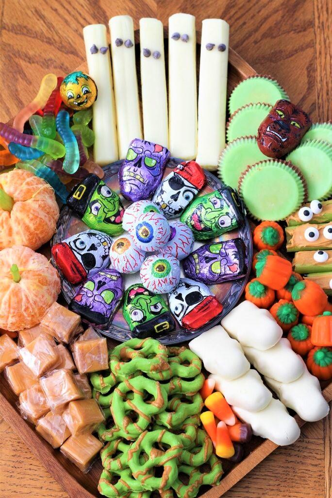 Festive Halloween Snack Board