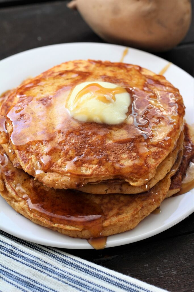 Moist Sweet Potato Pancakes