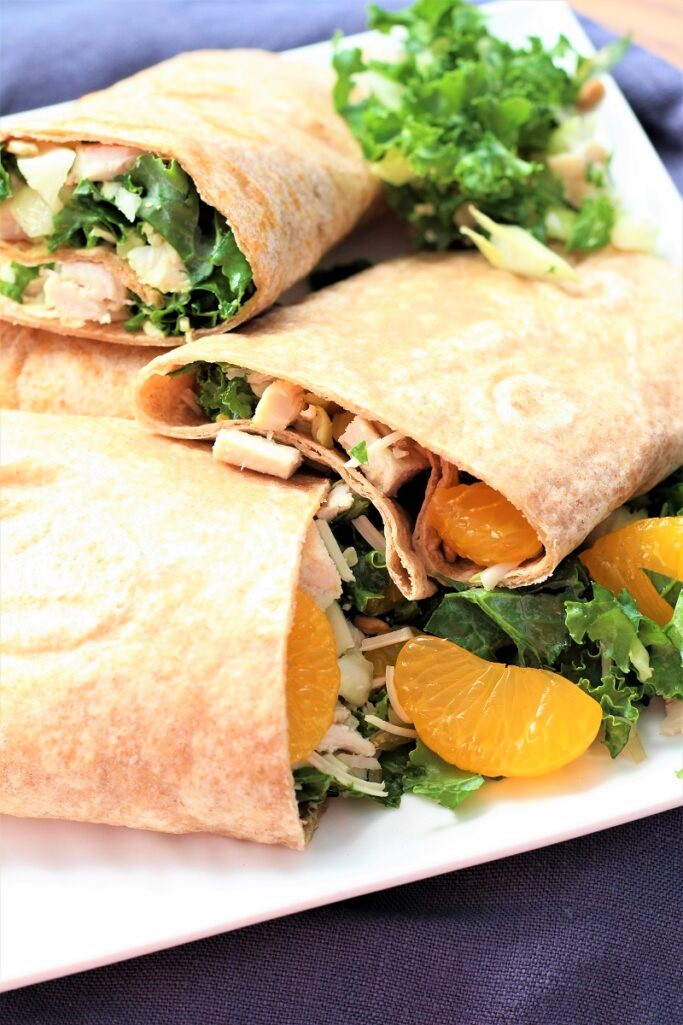 Turkey Wraps With Avocado Caesar Dressing