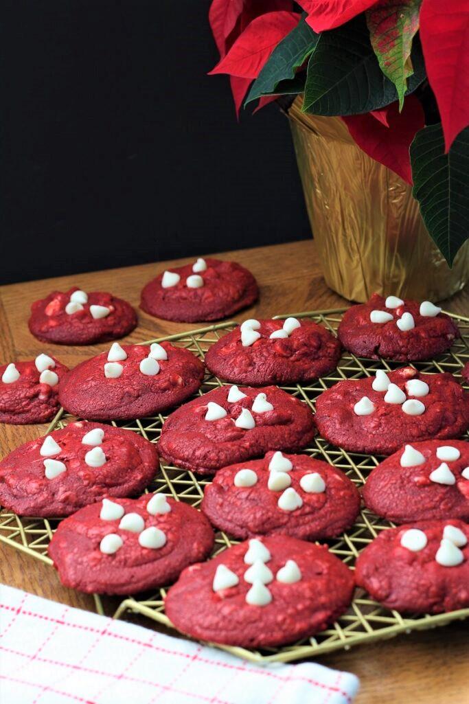 Four Ingredient Red Velvet Cookies