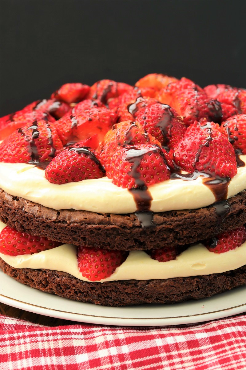 Strawberry Brownie Torte