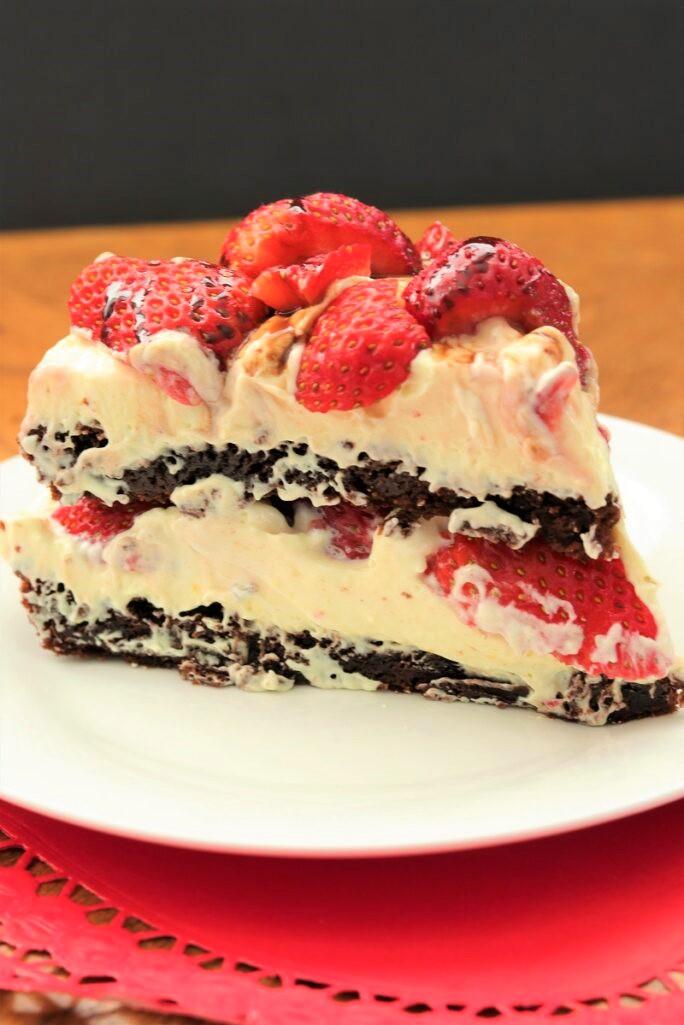 Strawberry Brownie Torte