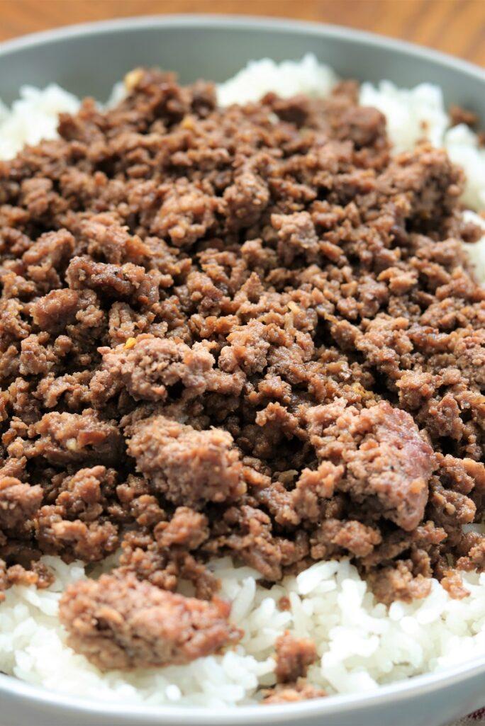 Ground Beef Rice Bowls