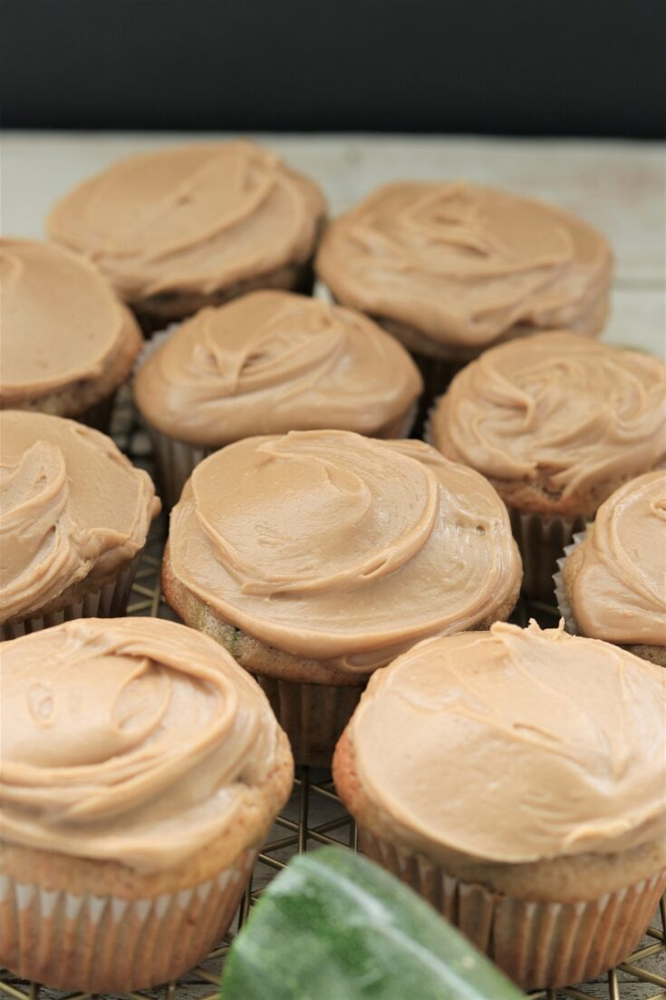 Zucchini Cupcakes with Frosting